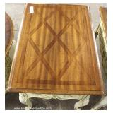 "Selection of Country French Style Burl Walnut Tops Tables by ""Weiman Furniture"""