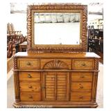 5 Piece Contemporary Pine King Bedroom Set