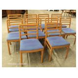 "Set of 10 Mid Century Modern Danish Walnut Chairs by ""Atelier International Ltd."""