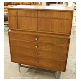 "Mid Century Danish Walnut Chest on Chest with Fitted Interior by ""Kroehler Furniture"""