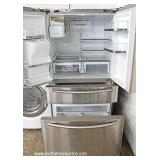 Stainless Steel Samsung French Door Dual Cooling Refrigerator – Working – Needs Cleaning