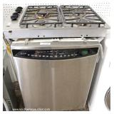 GE Profile Stainless Steel Front Dishwasher, Gas Stove Top, Oven and Microwave