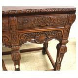 SOLID Walnut Highly Carved and Ornate Depression Buffet – VERY NICE