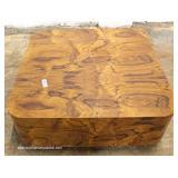 Mid Century Modern Burl Walnut Square Coffee Table – auction estimate $100-$300