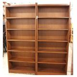Stickley PAIR of Mission Oak Open Front Bookcases