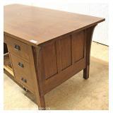 "Mission Oak Panel Sides and Back Flat Top 7 Drawer Desk by ""Stickley Furniture"" – auction estimate"