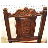 9 Piece Highly Carved and Ornate Oak Depression Refectory Dining Room Set in the Original Finish– a