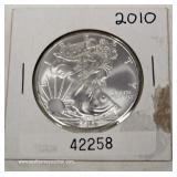 2010 U.S. Silver Eagle $1.00 – auction estimate $30-$60