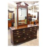 Cherry Bracket Foot High Chest and Low Chest with Mirror – auction estimate $200-$400