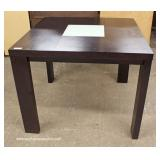 5 Piece Nice Contemporary Mahogany Finish Pub Table with 4 Leather Like Chairs and 2 Double Seat St