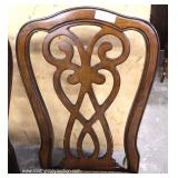 Contemporary Mahogany Carved Dining Room Table with 6 Chairs – auction estimate $300-$600