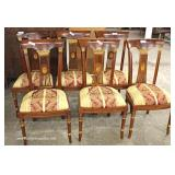 Set of 12 Burl Mahogany Flower Carved Back Dining Room Chairs – auction estimate $300-$600
