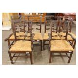 7 Piece Mahogany Queen Anne Dining Room Table with 6 Ribbon Back Chairs – auction estimate $200-$40