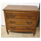 ANTIQUE Country French Cherry 3 Drawer Chest – auction estimate $200-$400