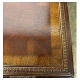 PAIR of Mahogany Banded and Inlaid Rope Carved 2 Drawer Library Tables – to be sold separate – auct