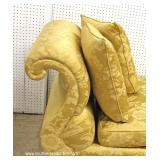 """BEAUTIFUL PAIR of Gold Upholstered by """"Baker Furniture"""" – auction estimate $400-$800"""