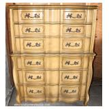 """4 Piece French Provincial Bedroom Set with Full Size Bed by """"Huntley Furniture"""" – auction estimate"""