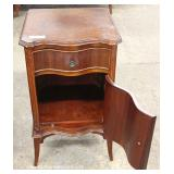 PAIR of Mahogany 1 Drawer 1 Door Night Stands – auction estimate $200-$400