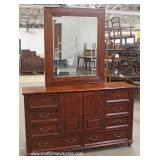 Contemporary 5 Piece Mahogany Bedroom Set with Full Size Poster Bed – auction estimate $300-$600
