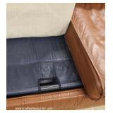 Contemporary 2 Piece Brown Leather Sleeper Sofa and Loveseat – auction estimate $300-$600