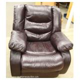 Contemporary 3 Piece Brown Leather Sofa, Chair and Loveseat with Cup Holders – auction estimate $40