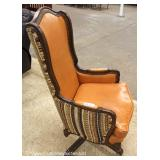 High Back Leather and Upholstered Swivel Chair – auction estimate $100-$200