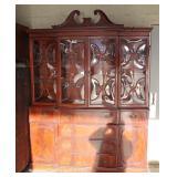 Mahogany Bubble Glass China Cabinet – auction estimate $100-$300