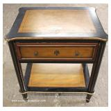 Contemporary Two Tone One Drawer Lamp Table and Coffee Table – auction estimate $100-$300