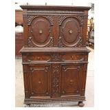 Oak Carved Blind Door China Cabinet – auction estimate $100-$300