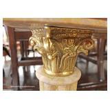 PAIR of Marble and Bronze Pedestals – auction estimate $200-$400