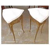 PAIR of Marble Top Bronze French Style Side Tables – auction estimate $200-$400