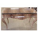Cheetah Style Print Queen Anne Console Table – auction estimate $100-$300