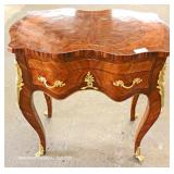 Mahogany One Drawer French Style Table with Applied Bronze – auction estimate $100-$300