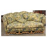 Upholstered Oak Frame Sofa with Pillows – auction estimate $200-$400
