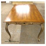 7 Piece Contemporary Country Farm Style Dining Room Table with 6 Chairs – auction estimate $300-$60