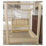 """Contemporary Queen Size Canopy Decorator Bed by """"Drexel Heritage Furniture"""" – auction estimate $200"""