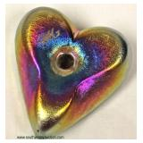 Art Glass Signed Heart Shape with Bird Paper Weight – auction estimate $40-$100