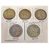 Selection of U.S. Silver Morgan Dollars – auction estimate $20-$50 each