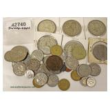 Bag of Mixed Foreign Coins – auction estimate $10-$20