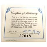 """Medal"""" with Certificate of Authenticity – auction estimate $20-$50"""