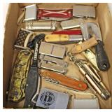 Box Lot of VINTAGE Lighters, Pen Knives, and More – auction estimate $20-$50