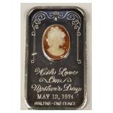 Mother's Day with Love .999 Fine One Ounce Silver Bar – auction estimate $20-$50