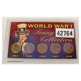 World War I Penny Collection – auction estimate $10-$20