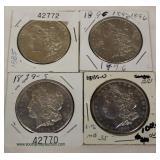 Selection of Morgan Silver Dollars – auction estimate $20-$50 each