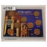 10 Decades of Lincoln Pennies – auction estimate $5-$10