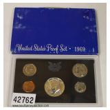 1969 U.S. Proof Set – auction estimate $5-$10