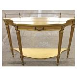 PAIR of Decorator Console Tables with Gallery – auction estimate $100-$300