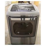 LIKE NEW LG Stainless Steel Finish Senor Dry Hyrdo Shield Electric Dryer