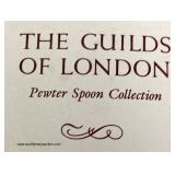 """""""The Guilds of London"""" 12 Pewter Collector Spoons – auction estimate $50-$100"""