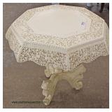 Highly Carved and  Ornate Asian Inspired Paint Decorated Center Table – auction estimate $100-$300